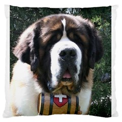 St Bernard Large Flano Cushion Cases (Two Sides)