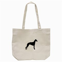 Whippet Silhouette Tote Bag (Cream)
