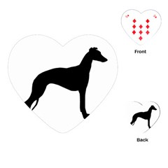 Whippet Silhouette Playing Cards (Heart)