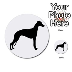 Whippet Silhouette Multi-purpose Cards (Round)