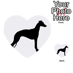 Whippet Silhouette Multi-purpose Cards (Heart)