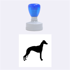 Whippet Silhouette Rubber Round Stamps (Medium)