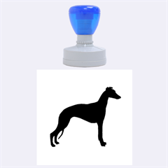 Whippet Silhouette Rubber Round Stamps (Large)
