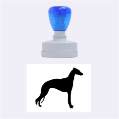 Whippet Silhouette Rubber Oval Stamps