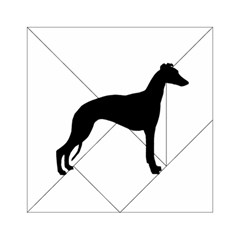 Whippet Silhouette Acrylic Tangram Puzzle (6  x 6 )