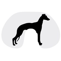 Whippet Silhouette Travel Neck Pillows