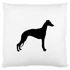 Whippet Silhouette Standard Flano Cushion Cases (One Side)