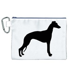 Whippet Silhouette Canvas Cosmetic Bag (XL)