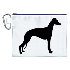 Whippet Silhouette Canvas Cosmetic Bag (xxl)