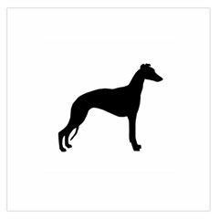 Whippet Silhouette Large Satin Scarf (Square)