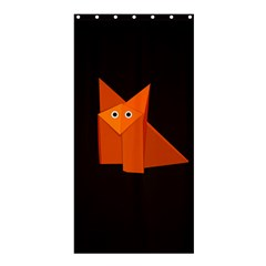 Dark Cute Origami Fox Shower Curtain 36  x 72  (Stall)
