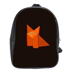 Dark Cute Origami Fox School Bags (xl)