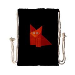 Dark Cute Origami Fox Drawstring Bag (Small)