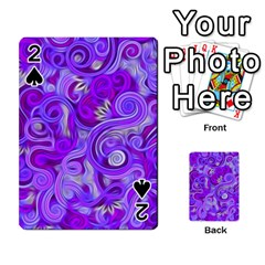Lavender Swirls Playing Cards 54 Designs