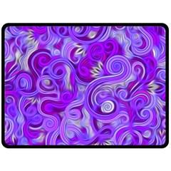 Lavender Swirls Fleece Blanket (Large)