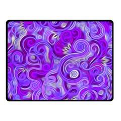 Lavender Swirls Double Sided Fleece Blanket (small)