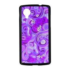 Lavender Swirls Nexus 5 Case (Black)