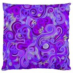 Lavender Swirls Standard Flano Cushion Cases (two Sides)