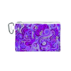 Lavender Swirls Canvas Cosmetic Bag (S)