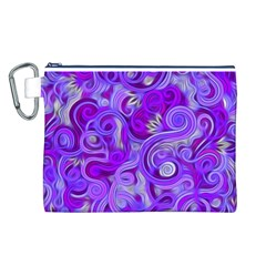 Lavender Swirls Canvas Cosmetic Bag (L)