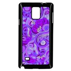 Lavender Swirls Samsung Galaxy Note 4 Case (Black)