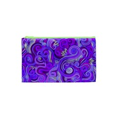 Lavender Swirls Cosmetic Bag (XS)