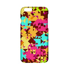 Shapes in retro colors Apple iPhone 6 Hardshell Case