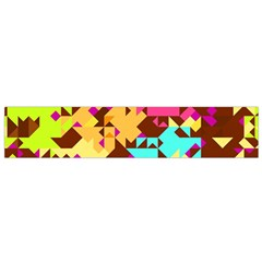 Shapes in retro colors Flano Scarf