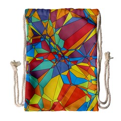 Colorful miscellaneous shapes Large Drawstring Bag