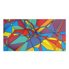 Colorful miscellaneous shapes Satin Shawl