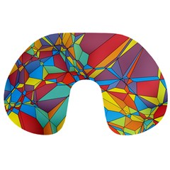 Colorful Miscellaneous Shapes Travel Neck Pillow