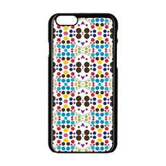 Colorful dots pattern Apple iPhone 6 Black Enamel Case