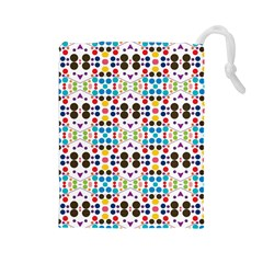 Colorful dots pattern Drawstring Pouch