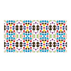 Colorful Dots Pattern Satin Wrap
