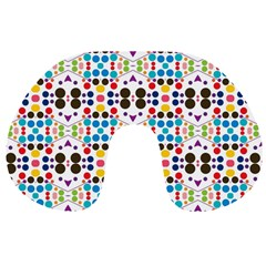 Colorful dots pattern Travel Neck Pillow