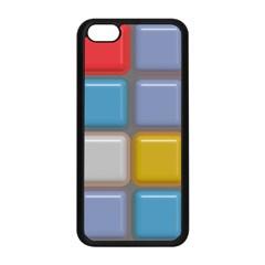 Shiny Squares Pattern Apple Iphone 5c Seamless Case (black)