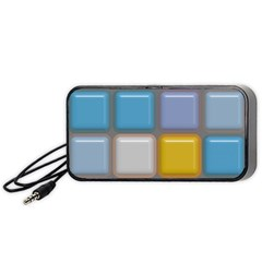 Shiny Squares Pattern Portable Speaker