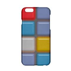 Shiny Squares Pattern Apple Iphone 6 Hardshell Case