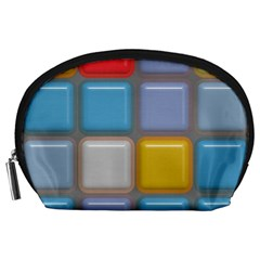 Shiny Squares Pattern Accessory Pouch