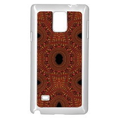 Crazy Beautiful Abstract  Samsung Galaxy Note 4 Case (white)