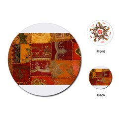 India Print Realism Fabric Art Playing Cards (Round)