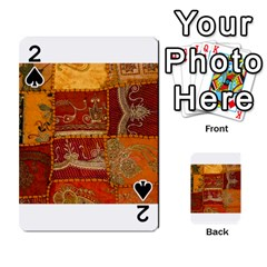 India Print Realism Fabric Art Playing Cards 54 Designs