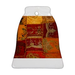 India Print Realism Fabric Art Bell Ornament (2 Sides)