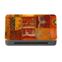 India Print Realism Fabric Art Memory Card Reader with CF