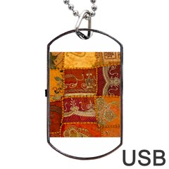 India Print Realism Fabric Art Dog Tag Usb Flash (one Side)