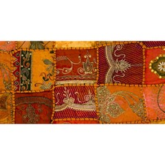 India Print Realism Fabric Art YOU ARE INVITED 3D Greeting Card (8x4)