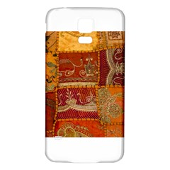 India Print Realism Fabric Art Samsung Galaxy S5 Back Case (White)