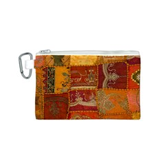 India Print Realism Fabric Art Canvas Cosmetic Bag (S)