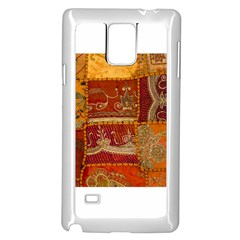 India Print Realism Fabric Art Samsung Galaxy Note 4 Case (white)