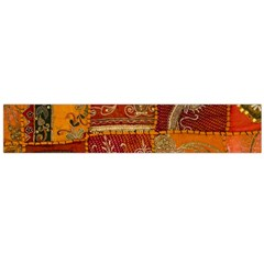 India Print Realism Fabric Art Flano Scarf (large)